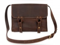 Чоловіча сумка Wellbags Satchel bag brown (W020) - фото