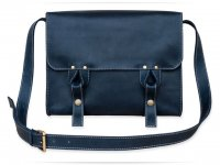Чоловіча сумка Wellbags Satchel bag blue (W020.1) - фото