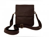 Чоловіча сумка Wellbags Messenger Junius brown (W051) - фото